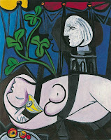 Pablo Picasso's Nude, Green Leaves and Bust painting created in 1932, in the artist's Cubist Period.