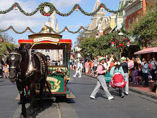 Winter Main Street Trolley Show Magic Kingdom