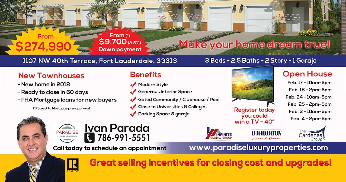NEW TOWNHOMES IN CRICKET CLUB | LAUDERHILL, FLORIDA 33313 | NEW CONSTRUCTION | GREAT OPEN HOUSE
