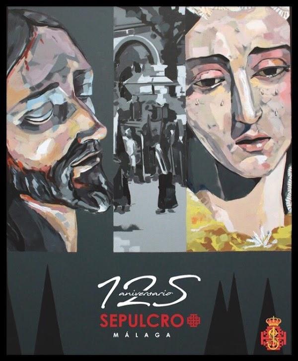 Cartel del 125 Aniversario de la Hermandad del Sepulcro de Málaga