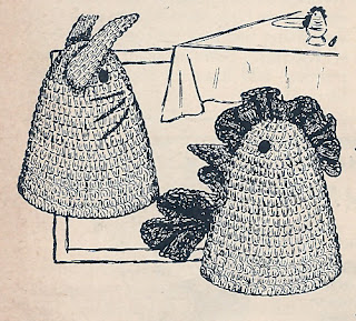 Crocheted Egg Warmer Pattern, Rooster & Bunny