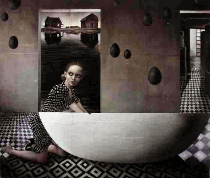 Картины на медицинской марле. Carla Bedini