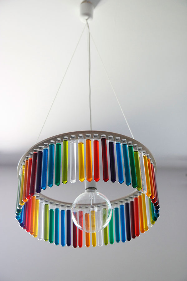 Test Tube Chandeliers by Pani Jurek