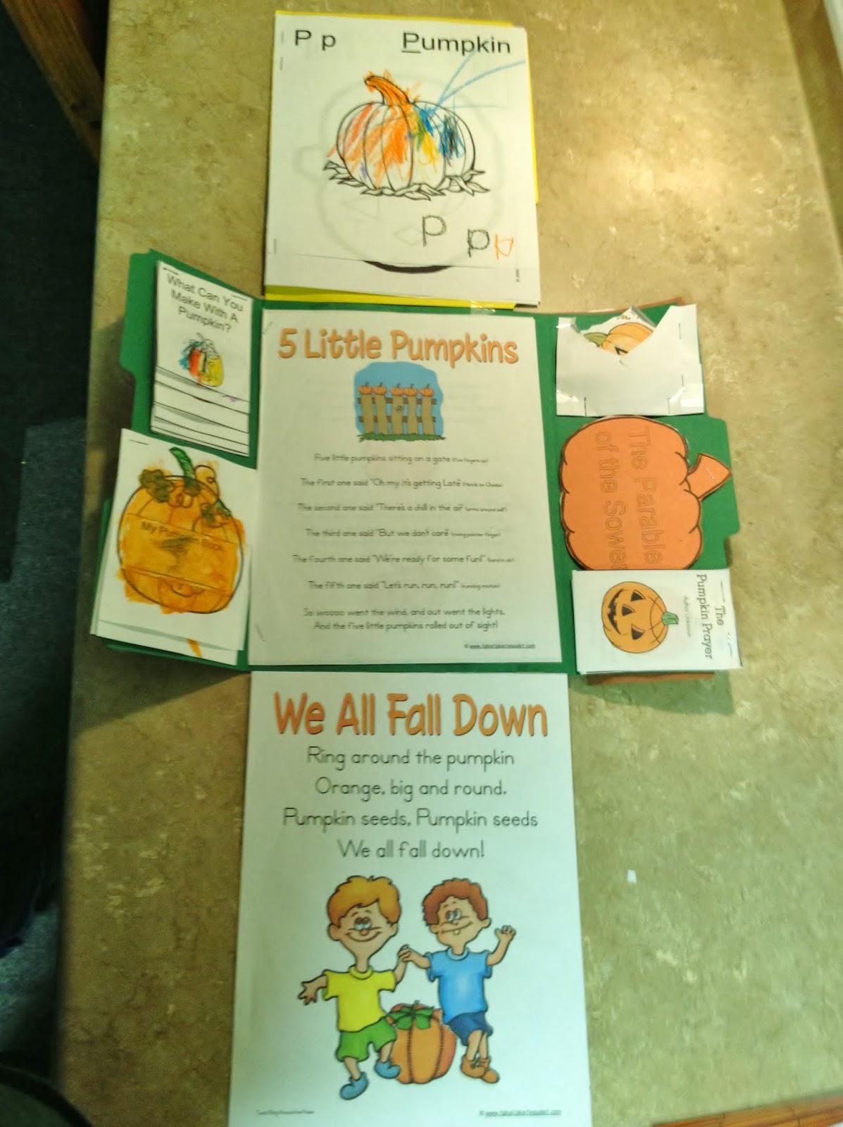 Learning In Grace Pumpkin Lapbook