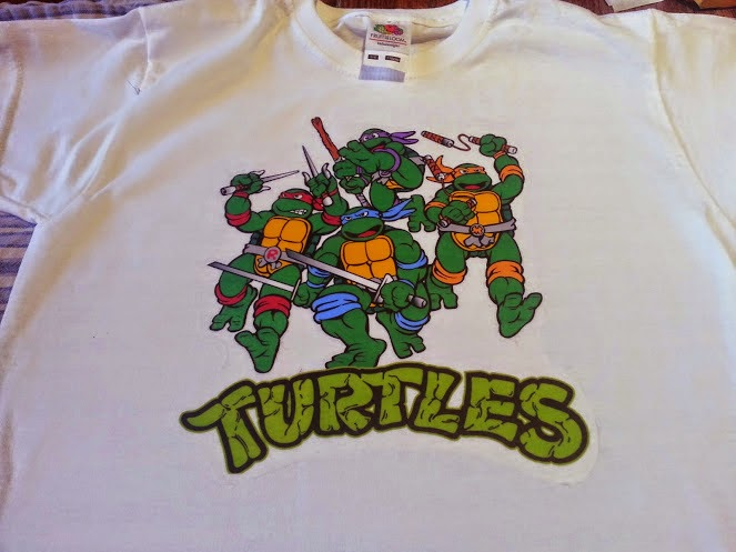 Teenage Mutant Ninja Turtles Transfer in place on t shirt