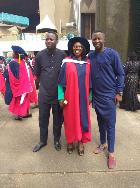 Nigerian Mum Who Went Back To School After 4 Kids, Graduates With A PhD