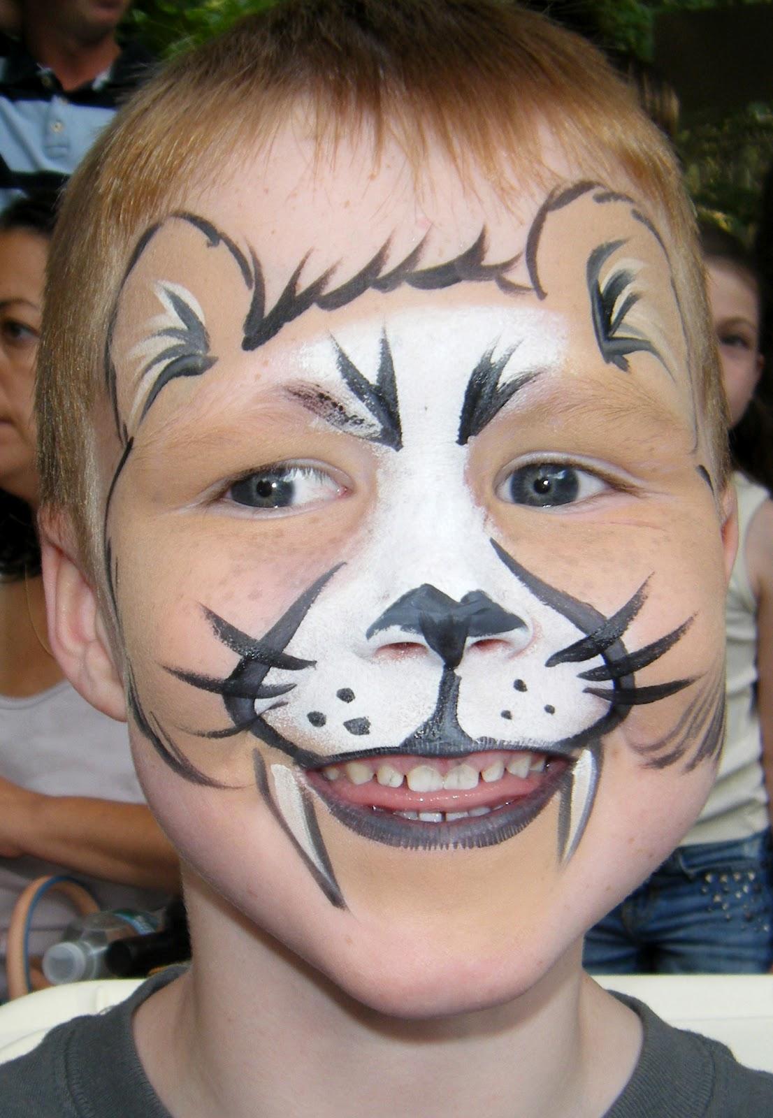 Mountain lion face paint | Face paint designs | Pinterest ...