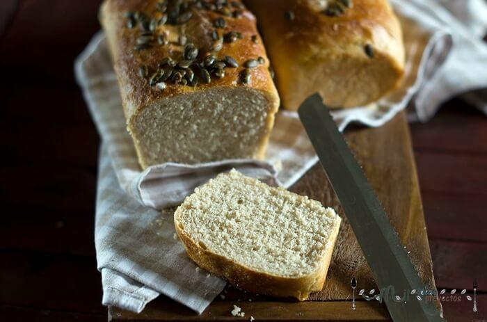 interior pan de espelta para sandwich