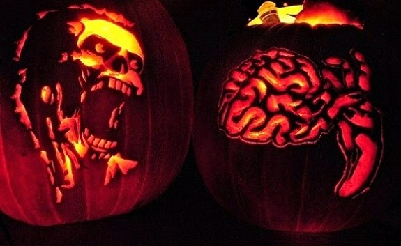 Zombie and Brains Pumpkins