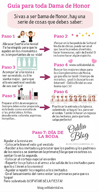 Guía completa para toda dama de honor - Odiia Bridal Blog Imprimible Descargable