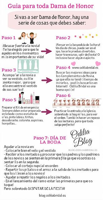 Guía completa para toda dama de honor - Odiia Bridal Blog Imprimible Descargable