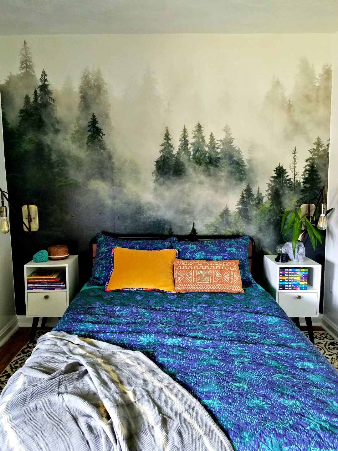 Photowall Foggy Forest Mural - Big Impact Low Effort Design  Accent Wall - Kid room design TheBohoAbode