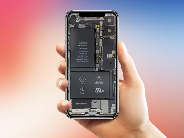 The most dashing Internals wallpaper for iPhone X is here shared by iFixit which show all the clear transparent hardware details of iPhone X