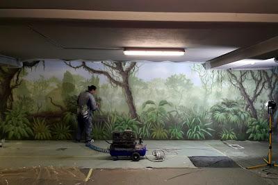 Malarstwo ścienne, malowanie obrazów na zamówienie, artystyczne malowanie ścian 3D, graffiti 3D