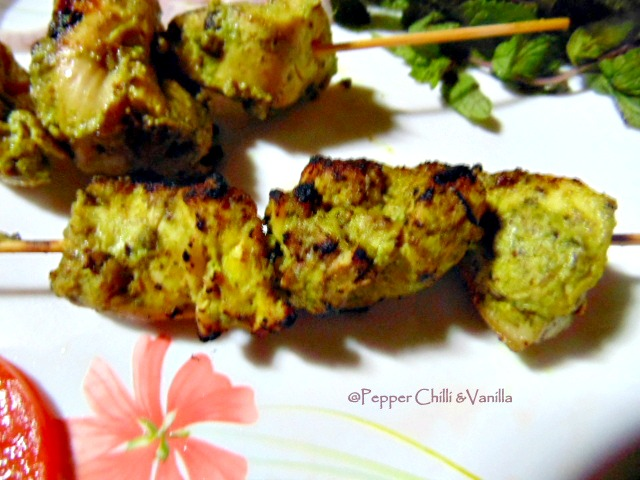 murgh hariyali kabab recipe