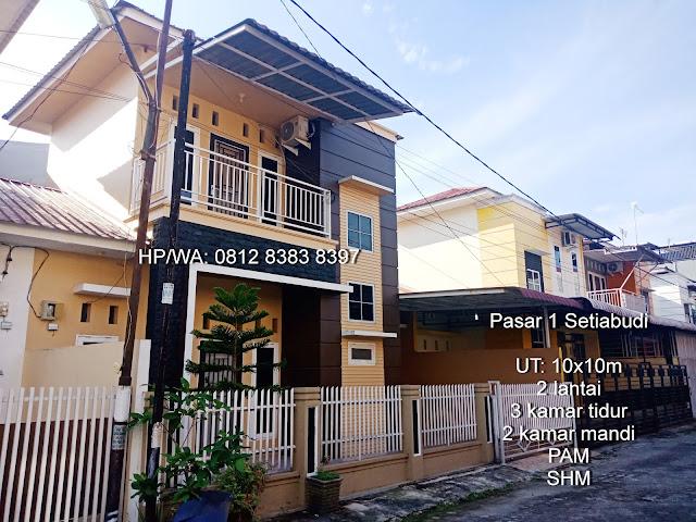 Rumah minimalis 2 lantai di Pasar 1 Setiabudi dekat Sekolah Namira dan USU Medan Sumatera Utara