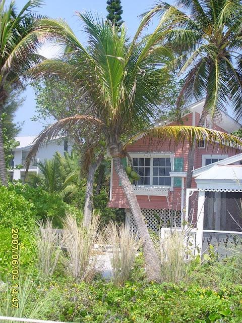 Blick auf ein Strandhaus auf Sanibel Island in Florida, nahe Ft. Myers