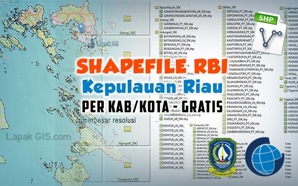 Shapefile RBI Gratis Kepulauan Riau per Kab/Kota