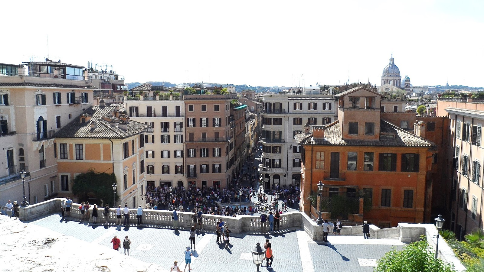 The view from the top of the Spanish Steps