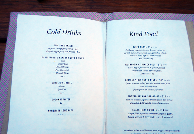 Menu of Grace Cafe, Rose Street, Fitzroy/ Collingwood  - Melbourne Suburb Checklist (12 Must-Dos!)