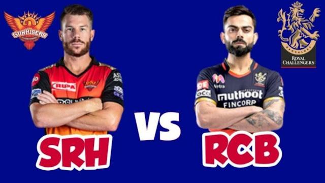SRH VS RCB Eliminator Dream 11 6 Nov 100% The Dream Team Winning Prediction IPL 2020