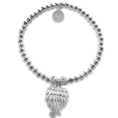 my midlife fashion, l loves Olivia angel wings bracelet