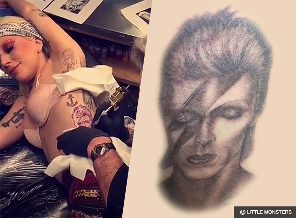 Lady Gaga Gets New David Bowie Tattoo