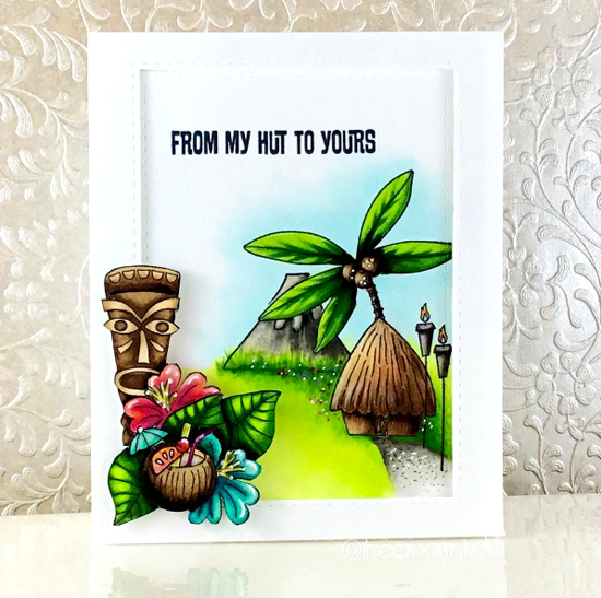 Tiki Party stamp set - Sandy Boone #mftstamps