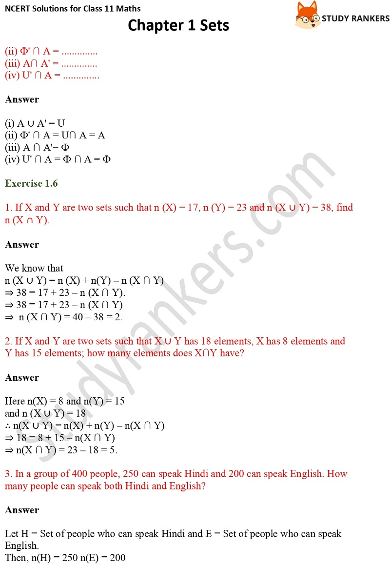NCERT Solutions for Class 11 Maths Chapter 1 Sets 20