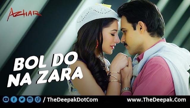 BOL DO NA ZARA Guitar Hindi song from movie AZHAR - ARMAAN MALIK, AMAAL MALLIK
