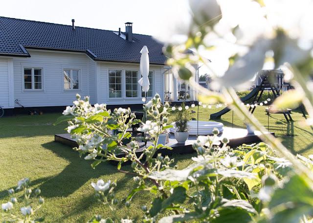 Villa H, terassi, piha ja puutarha,