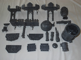 Shadow War: Armageddon scenery assembled in sections