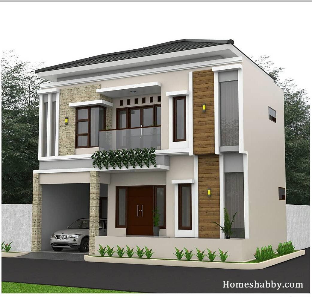 Desain Dan Denah Rumah Dengan Luas Lahan 10 X 7 M Tampil Lebih Elegan Dengan Konsep Modern Homeshabby Com Design Home Plans Home Decorating And Interior Design