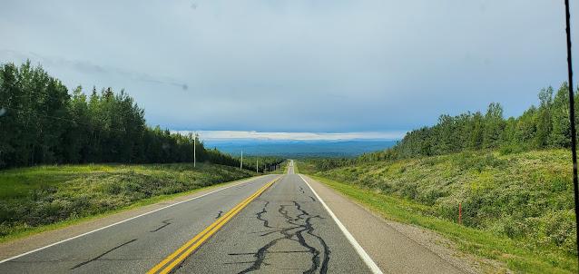 Beautiful view from Alaska Highway in British Columbia