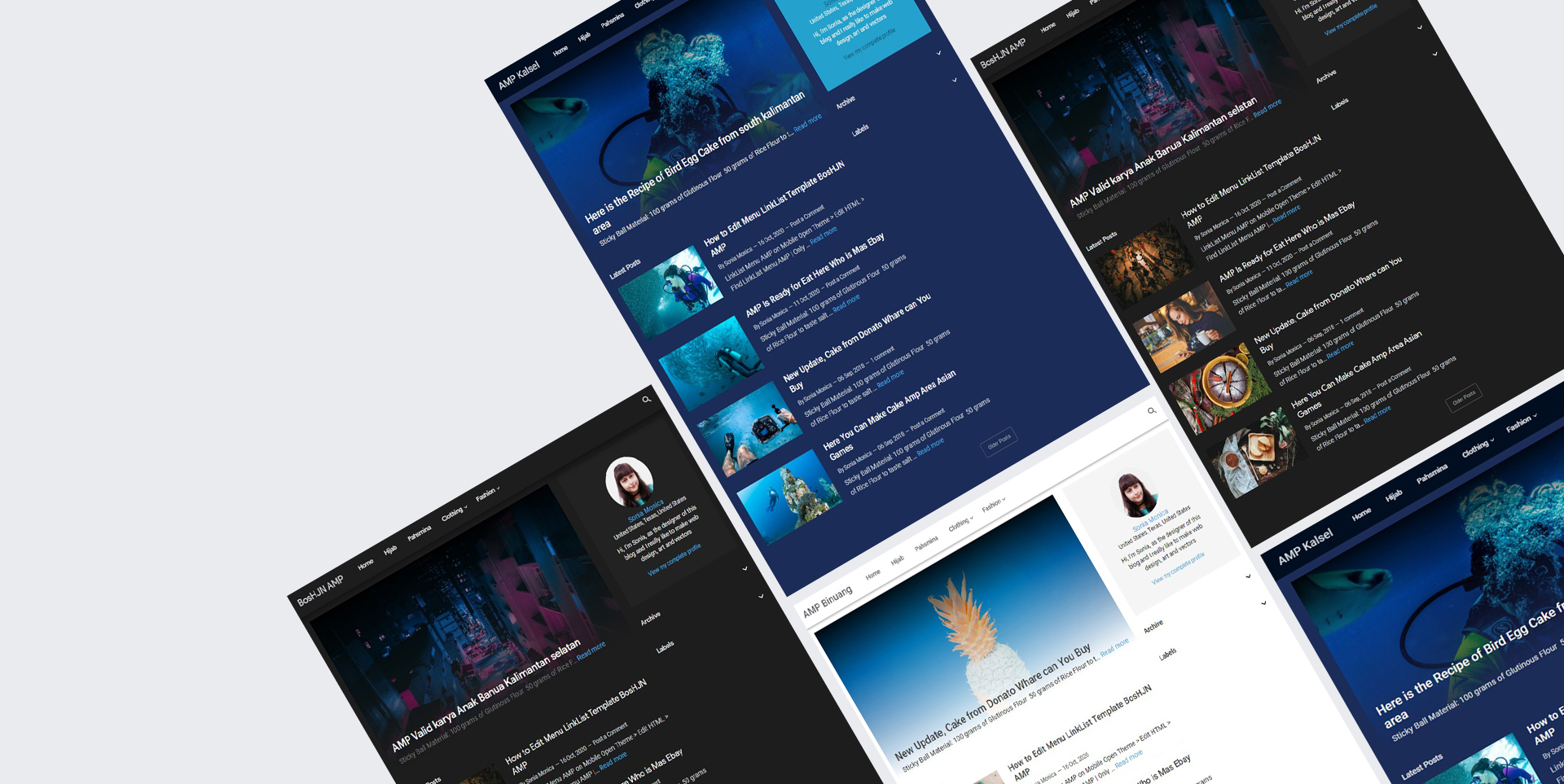 Bos HJN Amp Blogger Responsive Template