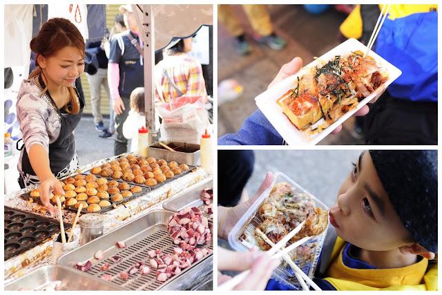Food stalls in front of Fushimi Inari
