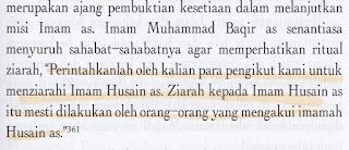 Kewajiban Penganut Syiah untuk Menziarahi Makam Husain RA