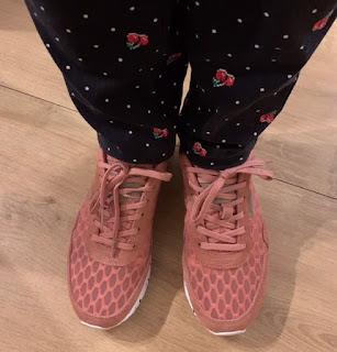 Sneakers Woden shoes in zalm roze