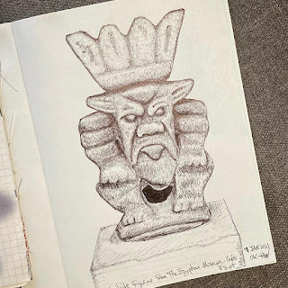 Drawing of small Egyptian Figure