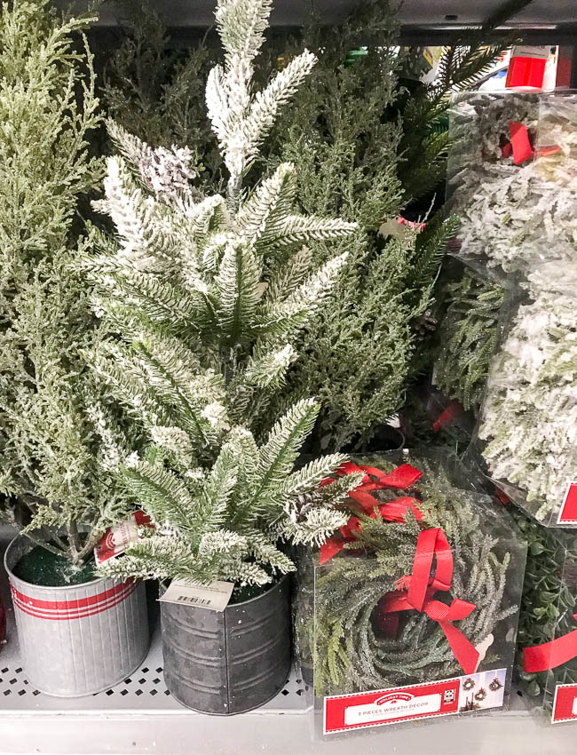 Walmart potted faux pine trees