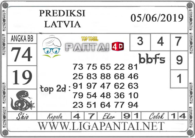 """Prediksi Togel """"LATVIA"""" PANTAI4D 05 JUNI 2019"""