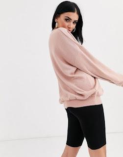 ASOS DESIGN lounge oversized super soft sweatshirt in pink