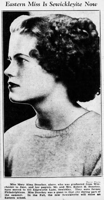 Mary Alma Denehey graduation annoucement Pittsburgh Press 1936