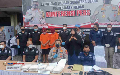 Mantaf! Satres Narkoba Polrestabes Medan Berhasil Ringkus Pasutri Bawa 10 Kg Narkoba Jenis Sabu