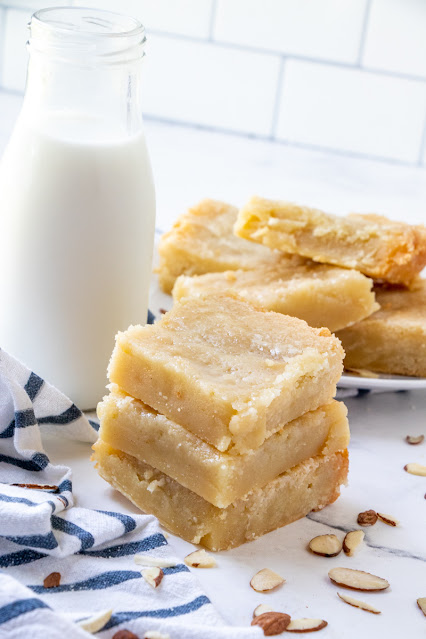 These melt in your mouth almond bars are a great shortcut to the traditional Dutch banket! They are a wonderful everyday dessert or perfect for holiday Thanksgiving or Christmas celebrations!
