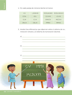 Apoyo Primaria Desafíos Matemáticos 5to Grado Bloque IV Lección 59 Los números romanos