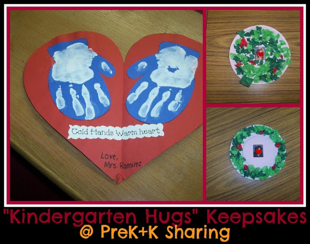 "Christmas Projects from ""Kindergarten Hugs"" at PreK+K Sharing"