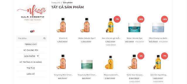 Chia sẽ template blogpsot bán mỹ phẩm cực đẹp Việt Hóa Full