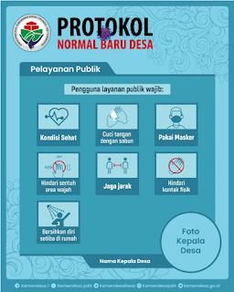 Contoh Desain Gambar Protokol Normal Baru Desa tomatalikuang.com