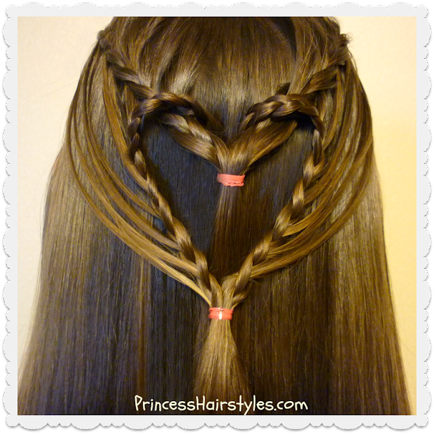 streaming heart hairstyle valentine's